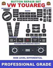 VW Touareg Button Repair Decal Set A/C Radio Hazard Steering Window Ride Level