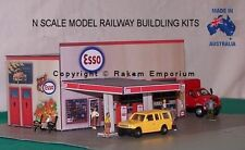 N Scale Esso Garage Petrol Station Model Railway Building Kit - NESG1
