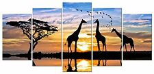 African Landscape Canvas Print Wall Art Animal Picture Painting Home Decor Gift