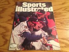 GREG MADDUX autographed signed Braves 1995 World Series Sports Illustrated JSA