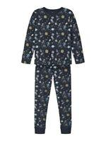 NAME IT Pyjama Schlafanzug dunkelblau Weltall Space Größe 86/92 bis 158/164