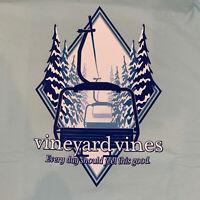Vineyard Vines Men's L/S Ski Lift Pocket T-shirt Sz XXL Blue- NEW TAGS