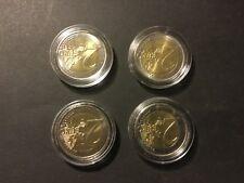 lot de 4 pieces de 2 euros commémoratives