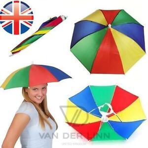 *UK Seller* Novelty Umbrella Hat Fishing Festival Golf Foldable Sun Hat