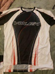 Voler Cycling Jersey  Raglan Unisex 3x Large white/blk & red