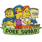 Simpsons Dork Squad Iron On Patch Sew TV Movie Embroidered Cartoon Bart Costume