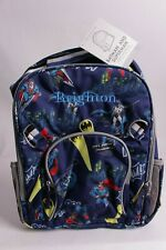 "NWT Pottery Barn Kids Batman & Superman large backpack ""Brighton"" monogram"