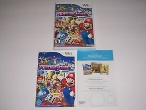 Original Box Case for Fortune Street w/ Manual & Insert Nintendo Wii