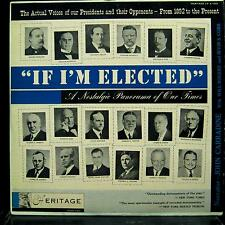VARIOUS U.S. PRESIDENTS if i'm elected LP VG+ A-1201 Vinyl 1953 Record
