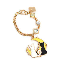 Anime Sailor Moon Luna Artemis Crystal Key Chain Pendant Women Bag Charm Fashion
