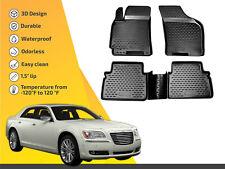 3D Floor liner mats TPE for Chrysler 300C 2012-up 4pc  FULL SET
