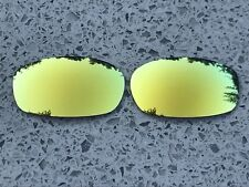 POLARIZED 24K GOLD MIRRORED REPLACEMENT LENSES FOR OAKLEY SQUARE WIRE 2.0