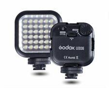 Lámpara de luz de vídeo LED Godox 36 para Cámara Digital Videocámara DV Canon Nikon Sony