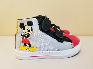 Toddler Child Disney Mickey Mouse High Top Sneakers Size 7
