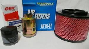 Filter Service Kit Ford RANGER 2007-2011 PJ PK Oil fuel air turbo diesel 4x4