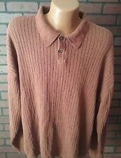 J Ferrar Men's Brown 3XL Long Sleeve Cotton Sweater B3-9