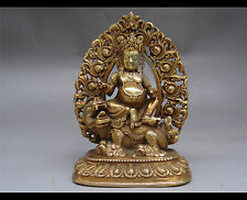 Tibetan religio Hinduism Pure copper carving kubera Perfect collection
