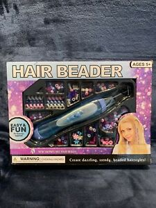 Snowflake Hair Beader Accessory Kit Dazzling Hair Beads Ages 5+ NEW Sealed