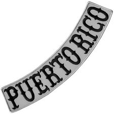 VEGASBEE® PUERTO RICO REFLECTIVE EMBROIDERED IRON-ON PATCH LOW ROCKER 13""