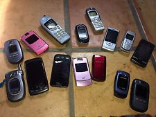 Lot of 15 cell phones older models in need of repair for parts or repair