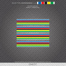 0407 World Champion Stripes Bands - Bicycle Decals Stickers - White Edges