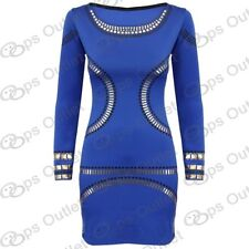 Vestiti da donna tunica blu corto, mini