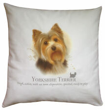 Yorkshire Terrier Dog   100% Cotton Cushion Cover with Zip   Howard Robinson