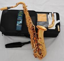 Professioanl Electrophoresis Gold C Melody sax High F# Saxophone 2 Necks W/Case