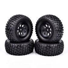 4Pcs RC 1:10 Short Course Truck Tires&Wheel 12mm Hex For TRAXXAS SLASH Car Truck