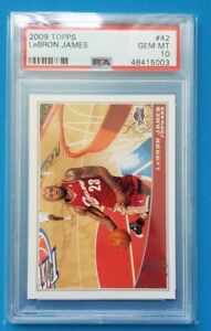 2009 Topps LeBron James #16 PSA 10 GEM MINT 🔥 Iconic photo 🔥 LOW POP ONLY 15