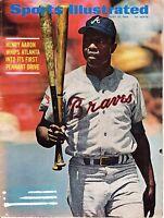1969 (8/18) Sports Illustrated, Baseball magazine, Hank Aaron,Atlanta Braves~FLR