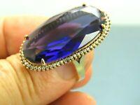 Turkish Handmade Jewelry 925 Sterling Silver Amethyst Stone Women Ring Sz 9