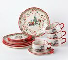 Temp-tations Whimsy Christmas / Holiday Dinnerware (See the Cups) 12 pcs H219282