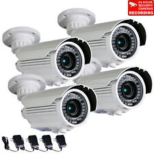 4x Outdoor Security Camera IR Night Vision with SONY Effio CCD Zoom 42 LEDs b6w