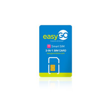 Easy Go Smart 4g Lte Sim Card Unactivate Triple Cut 3in1