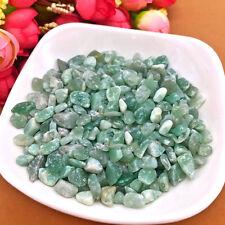 50g Natural Green Quartz Gravel Crystal Rough Raw Stone Pray Lucky Healing Decor