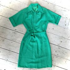 Vintage 1970's Heavy Linen Day Dress Size 12/14
