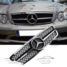 FRONT BLACK-CHROME GRILL FOR MERCEDES CLASS-C W203 S203 AMG LOOK SPOILER 203030