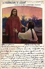 Metlicovitz - La Vita di Gesù Cristo - La Risurrezione di Lazzaro - M038
