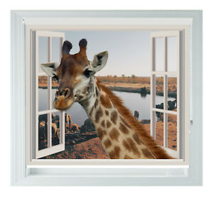 Giraffe Window African Style 3D Photo Black Out Roller Blind 2 3 4 5ft