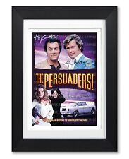 THE PERSUADERS! CAST SIGNED TV SHOW SERIES SEASON POSTER PHOTO AUTOGRAPH GIFT