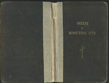 Orders of ministerial acts for danish evangelical lutheran congregations1924 hc