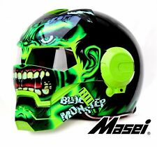 Masei 610 Green Monster Flip Up Bike Motorcycles Helmet  M L XL