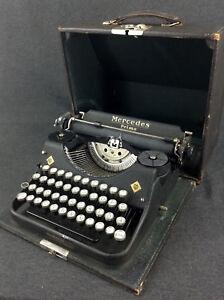 Reise Schreibmaschine Mercedes Prima Modell 34 Typewriter Deko Industrial Loft