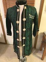 VIETNAM War era ? MAMA SAN BLACKIE Oriental Kimono Robe silk Black Green White
