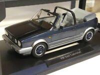 1/18 Norev Volkswagen Golf Cabriolet Bel Air 1992 blau metallic 188404