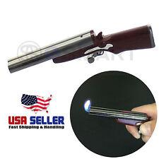 Double Barrel Twin Flame Lighter Butane Refillable Shotgun Rifle Pistol Novelty
