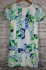 PHILOSOPHY Dress Republic Clothing Floral Shift white green blue Short Sleeve XS