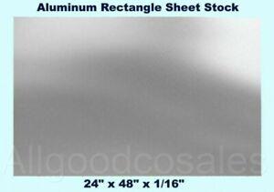 """5052 Aluminum .0625/"""" 16 gauge 1//16/"""" x 16/"""" x 60/"""" Aluminum Plate"""