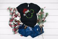 Disney Mickey Mouse Santa Hat Christmas T-Shirt